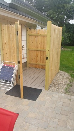 Harwichport Cape Cod vacation rental - Spacious outdoor shower right off kitchen
