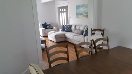 Harwichport Cape Cod vacation rental - Dinning room with extendable table right off kitchen