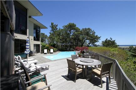 East Orleans Cape Cod vacation rental - Deck Views of private heated pool and Nauset Beach