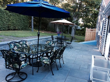 Brewster Cape Cod vacation rental - New blue stone patio and outdoor shower