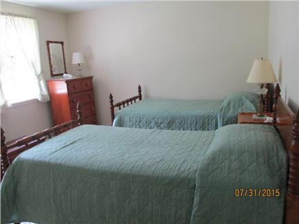 Brewster--Sheep Pond Cape Cod vacation rental - Bed room #2 has two twin beds and air conditioning.