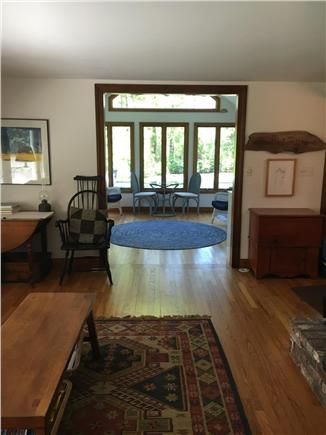 Brewster Cape Cod vacation rental - Living room flows into 4 season sun room