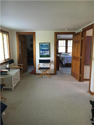 Brewster Cape Cod vacation rental - Dormer looking into bathroom (l) and bedroom (r)