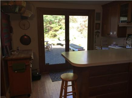 Brewster Cape Cod vacation rental - Kitchen opens onto deck