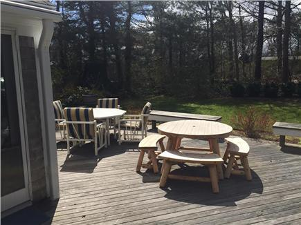 Brewster Cape Cod vacation rental - Deck includes picnic tables and benches