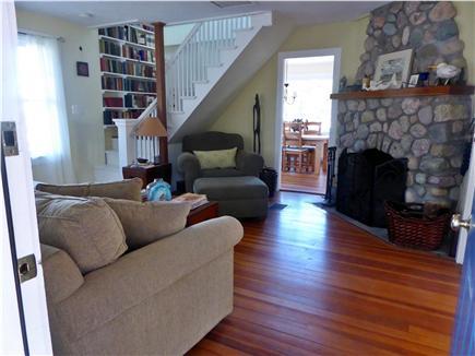 Sagamore Beach Sagamore Beach vacation rental - Comfortable living room with beach stone fireplace