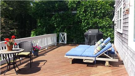 Sagamore Beach Sagamore Beach vacation rental - Huge, sunny private deck over back yard, for dining and grilling