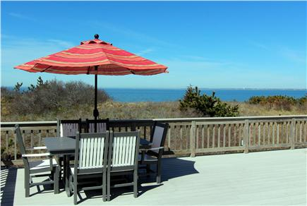 Truro Cape Cod vacation rental - View of Cape Cod Bay From Lower Deck