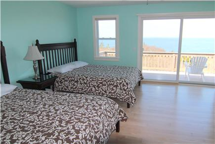 Truro Cape Cod vacation rental - Bedroom 5 -  Two Queen Beds With Bay View & Deck