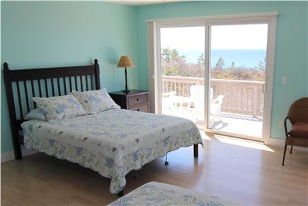 Truro Cape Cod vacation rental - Bedroom 6 - Two Queen Beds With Bay View & Deck