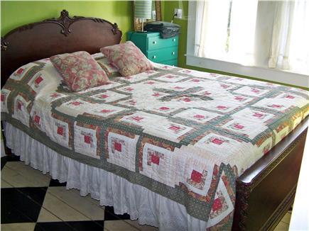 Truro Cape Cod vacation rental - 2nd floor bedroom, hand painted pine floor