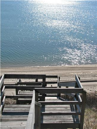 Truro Cape Cod vacation rental - Our private beach stair to sandy beach