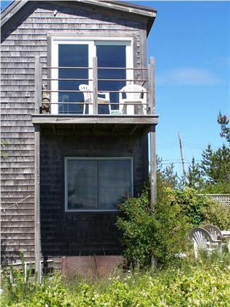Truro Cape Cod vacation rental - Living room deck overlooking water