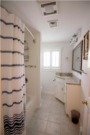 Chatham downtown village Cape Cod vacation rental - Upstairs hallway full bath with granite top (reno Spring 2016)
