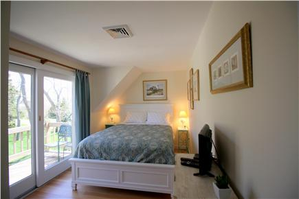 Chatham downtown village Cape Cod vacation rental - Bedroom #2 - Lookout Room - Queen with private deck and balcony