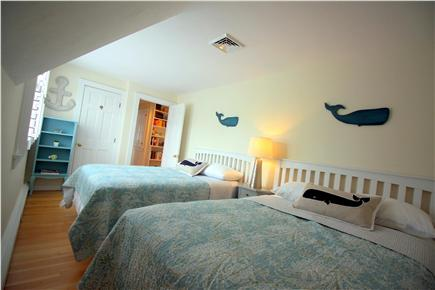 Chatham downtown village Cape Cod vacation rental - Bedroom #3 - Whale Watch Room - 2 full/double beds