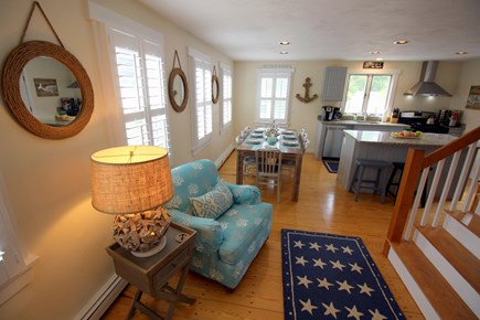 Chatham downtown village Cape Cod vacation rental - Open layout with various areas to sit.  Well stocked kitchen.