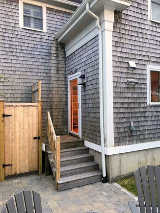 Chatham downtown village Cape Cod vacation rental - Outdoor shower and back entry off private courtyard