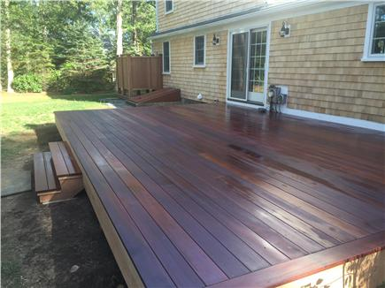 Eastham Cape Cod vacation rental - Brand new mahogany deck and shower in spacious, private back yard
