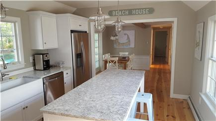Eastham Cape Cod vacation rental - Modern kitchen with high ceilings and natural light