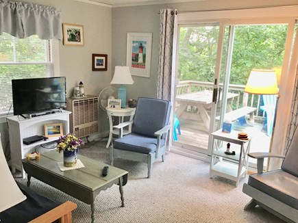 Eastham Cape Cod vacation rental - From the Living Room, head out on the deck for sun and relaxation