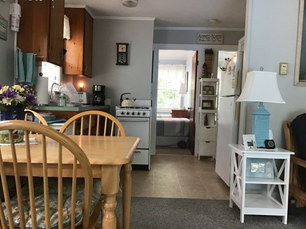 Eastham Cape Cod vacation rental - Full equipped kitchen and two bedrooms straight ahead.