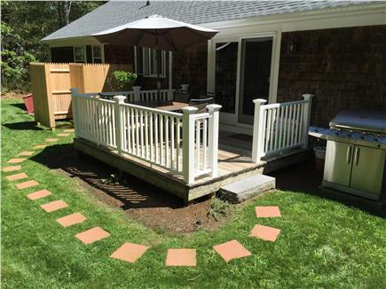 Dennis Cape Cod vacation rental - Deck with Grill and Cape Cod Outdoor Shower