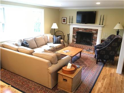 Dennis Cape Cod vacation rental - Living area with fireplace