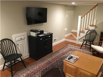 Dennis Cape Cod vacation rental - Den has HDTV and couch for quiet naps.