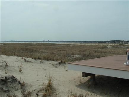 Truro, Shore Road Route 6A North Trur Cape Cod vacation rental - Deck off kitchen area overlooking Provincetown Pilgrim