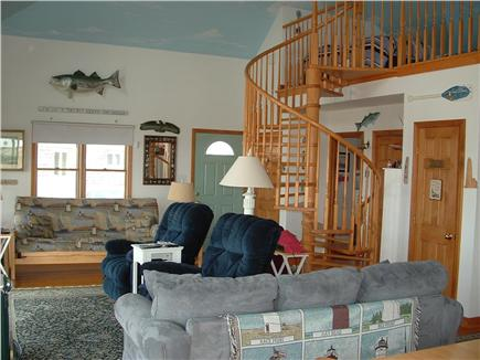 Truro, Shore Road Route 6A North Trur Cape Cod vacation rental - Living room picture from kitchen area
