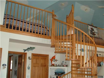 Truro, Shore Road Route 6A North Trur Cape Cod vacation rental - Solid oak staircase to loft