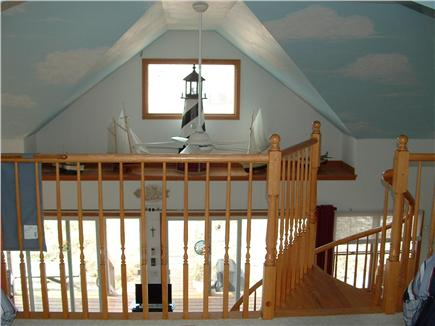 Truro, Shore Road Route 6A North Trur Cape Cod vacation rental - Windows across from loft area dunes visable