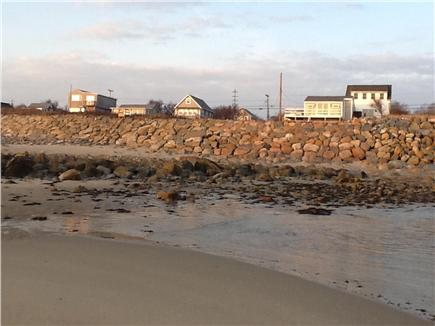 Plymouth MA vacation rental - Picture taken at low tide looking back to the cottage