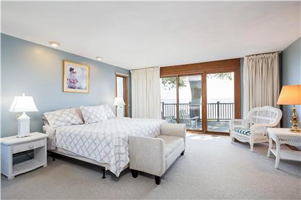 Duxbury MA vacation rental - Master Bedroom with deck access & water view