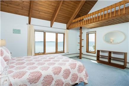 Duxbury MA vacation rental - Queen size guest room 2 with bath & water view
