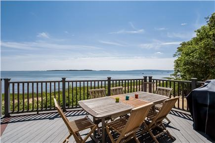 Duxbury MA vacation rental - Dining area on deck