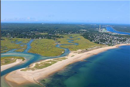 Sandwich Cape Cod vacation rental - Ariel View of Town Neck Beach and Cape Cod Canal