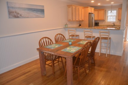 North Eastham Cape Cod vacation rental - Dining room and breakfast bar area