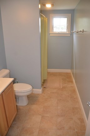 North Eastham Cape Cod vacation rental - Bathroom on second floor with tile floor