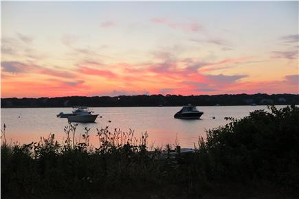 Falmouth Cape Cod vacation rental - Sunrise Great Bay from end of street
