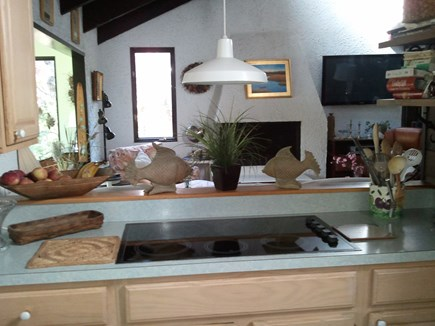 Eastham Cape Cod vacation rental - View from kitchen into Living room.