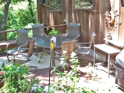 Eastham Cape Cod vacation rental - Dining and grilling on the deck
