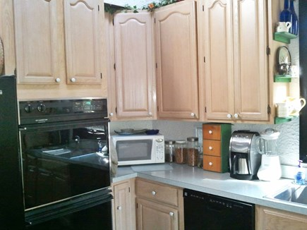 Eastham Cape Cod vacation rental - Double ovens, french door 'fridge. Pantry cupboard to the right