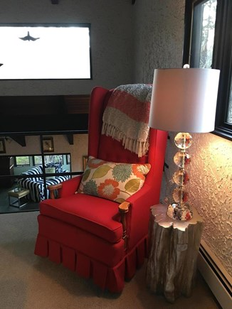 Eastham Cape Cod vacation rental - Comfy reading chair in the loft