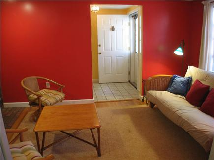 Brewster Cape Cod vacation rental - Family room with futon sofa bed.
