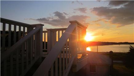 Orleans Cape Cod vacation rental - Sunset from the upper deck
