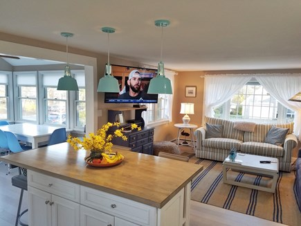 Brewster Cape Cod vacation rental - Open living room