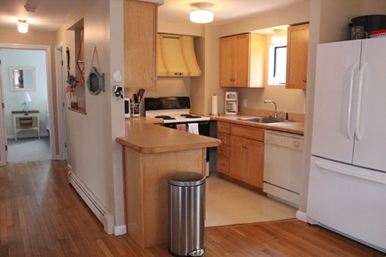 Eastham Cape Cod vacation rental - Fully-equipped kitchen is small but efficient.