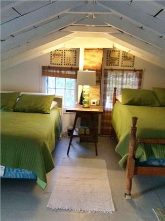 Eastham - beaches & bike path Cape Cod vacation rental - Loft Bunk Room- two queen beds, tv, ac unit, fans